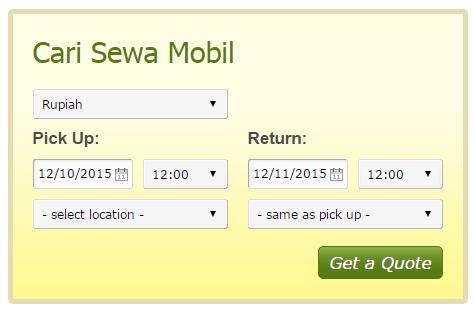 jasa pembuatan web rental mobil dengan modul