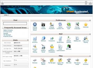 control panel hosting pesonaweb