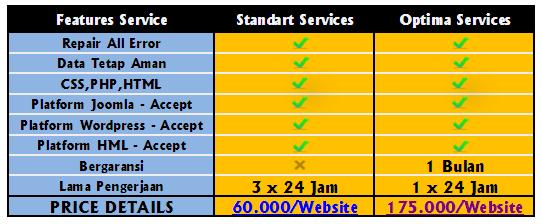 repair web error