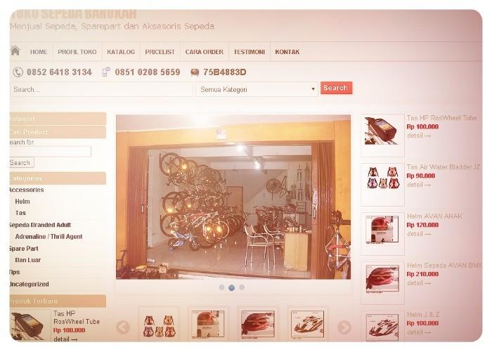 jasa bikin web toko sepeda
