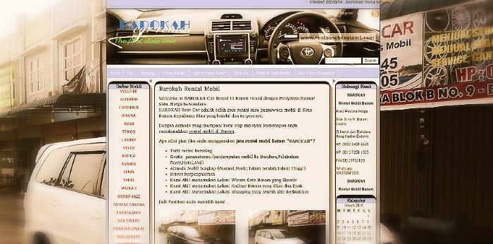 jasa web rental mobil