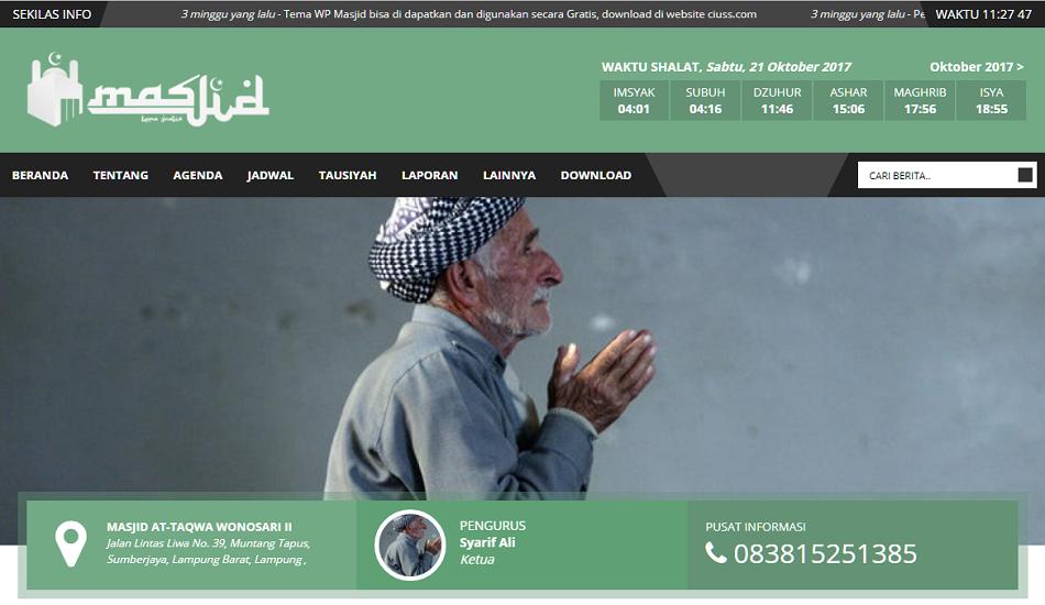 jasa pembuatan website masjid