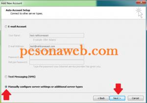 Setting Email domain pada Microsoft Outlook