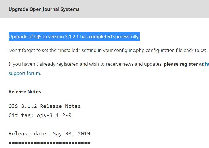 Cara upgrade OJS dari versi 3.1.1 ke 3.1.2