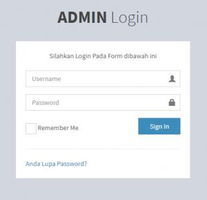 tampilan admin login website sekolah
